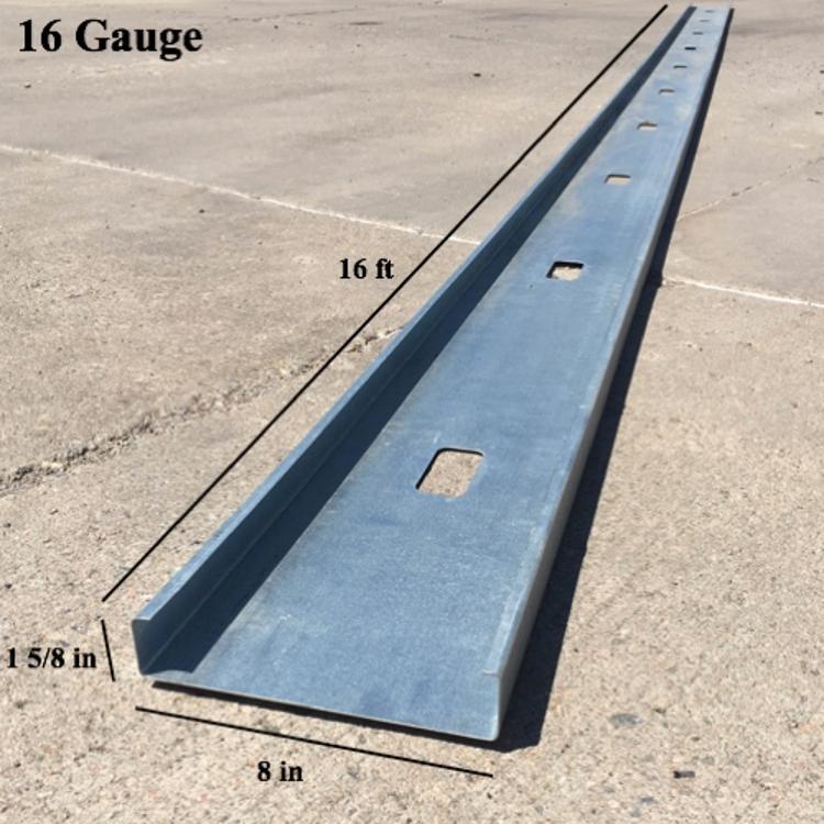8 In X 16 Ft X 16 Gauge Galvanized Steel Stud At Pioneer