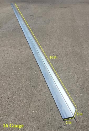 2 in x 2 in x 10 ft x 16 Gauge 54 mil Corner Angle