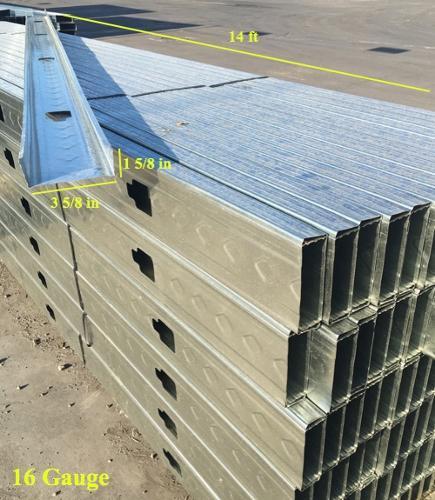 3 5 8 In X 14 Ft 16 Gauge 54 Mil Structural Steel Stud W 1 5 8 In Flange At Pioneer Materials West