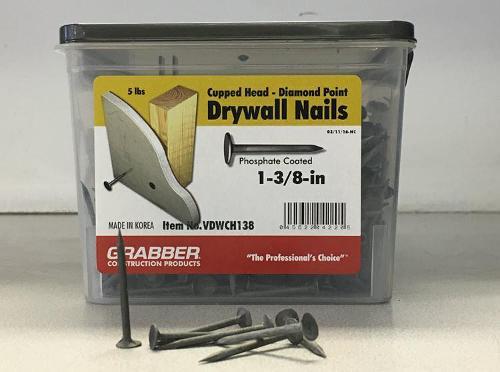 1-3/8 in Drywall Nails - 5 lb box