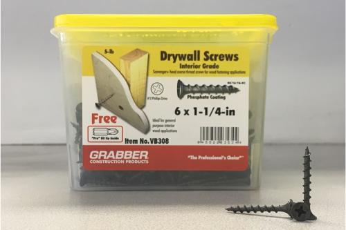1-1/4 in Coarse Wood Screws - 5 lb box