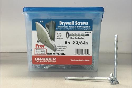 2-3/8 in Self-Drilling Screws - 5 lb box