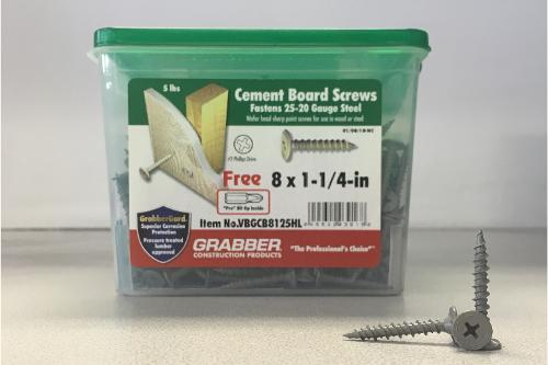 1-1/4 in Cement Board Screws - 5 lb box