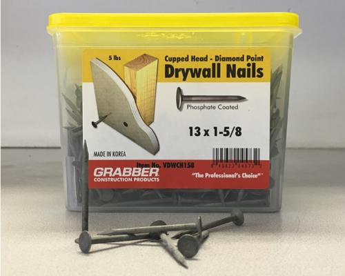 1-5/8 in Drywall Nails - 5 lb box