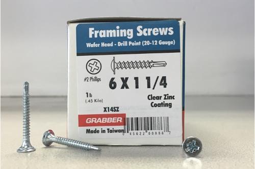 1-1/4 in Self-Drilling Screws - 1 lb box