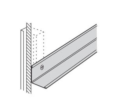 1 in x 10 ft USG Donn Brand Acoustical Suspension System Aluminum Cap Wall Angle Molding - MC11A25