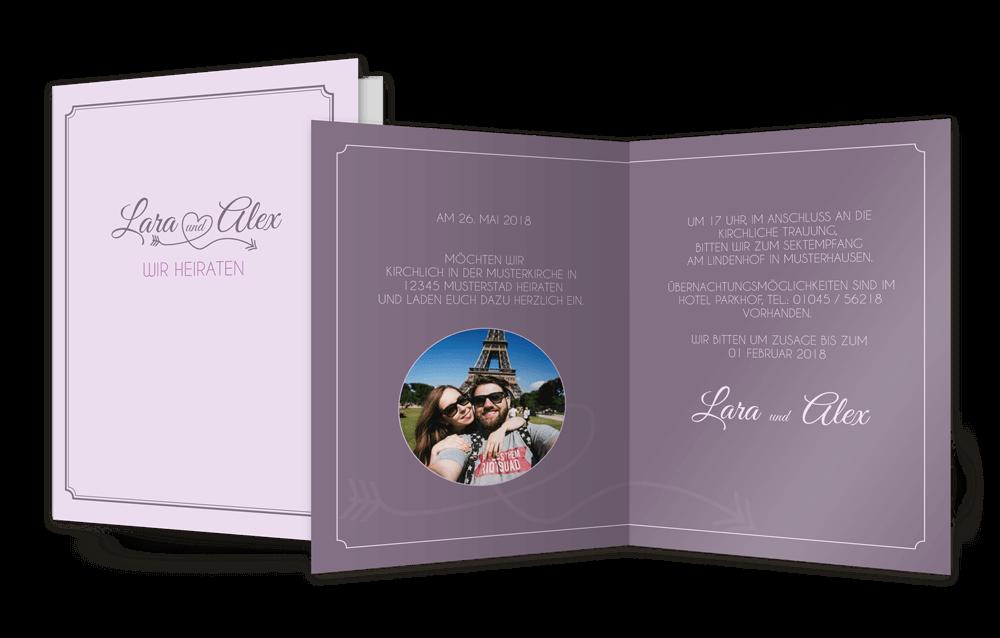 Einladung Lilatöne