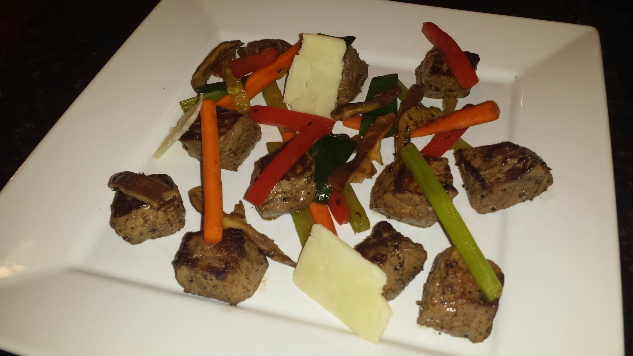 Recipe: Steak, cheese, and vegetables