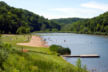 Sick of being land-locked? Raccoon Creek State Park has you covered!