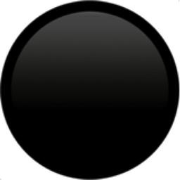 Black Circle Emoji (U+26AB, U+FE0F) Symbols Copy And Paste Dot