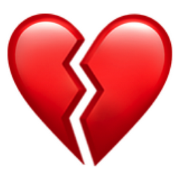 Broken Heart Emoji (U+1F494)