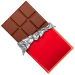 Chocolate bar emoji u 1f36b for Food s bar unloc