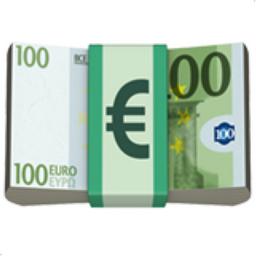 Euro banknote emoji u 1f4b6 for Ohrensessel 100 euro