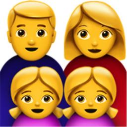 Family Man Woman Girl Girl Emoji U 1f468 U 200d U