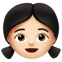Girl Light Skin Tone Emoji U 1f467 U 1f3fb
