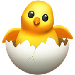 hatching chick emoji u1f423