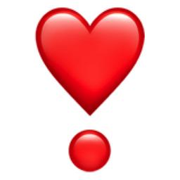Heavy Heart Exclamation Emoji (U+2763, U+FE0F)