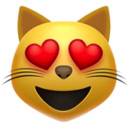 Smiling Cat Face With Heart Eyes Emoji U 1f63b