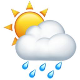 sun behind rain cloud emoji  u 1f326 clipart of reindeer clipart of rain