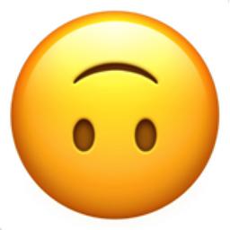 Upside-Down Face Emoji (U+1F643)