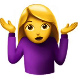 Woman Shrugging Emoji U 1f937 U 200d U 2640 U Fe0f