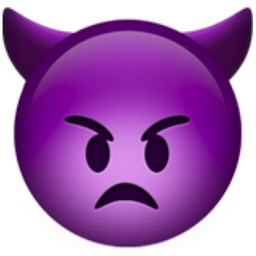 recent angry face with horns