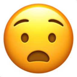 anguished face emoji u 1f627