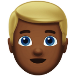 Blond Haired Man Medium Dark Skin Tone Emoji U 1f471 U