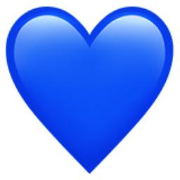 blue heart emoji u 1f499