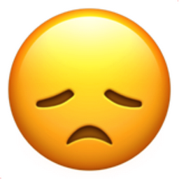 disappointed face emoji u1f61e