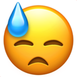 Sweat emoji text