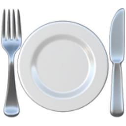 Fork And Knife With Plate Emoji U 1f37d