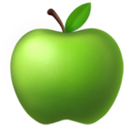 green apple emoji u1f34f