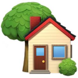 House with Garden Emoji (U+1F3E1)