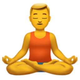 man in lotus position emoji u1f9d8 u200d u2642 ufe0f