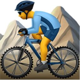 Man Mountain Biking Emoji (U+1F6B5, U+200D, U+2642, U+FE0F)