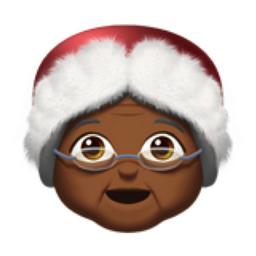 Mrs Claus Medium Dark Skin Tone Emoji U 1f936 U 1f3fe