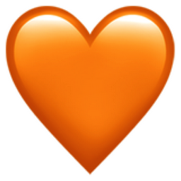 Coeur Orange Iphone