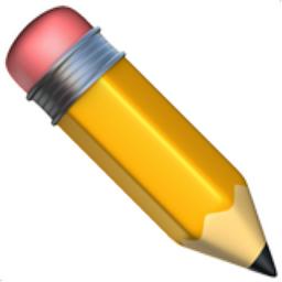 pencil emoji u 270f u fe0f