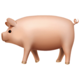 What does the leaf and pig emoji mean