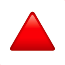 red triangle pointed up emoji u1f53a