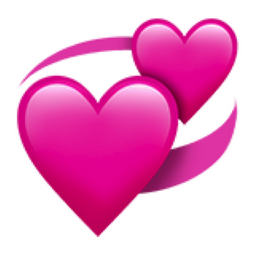 Revolving Hearts Emoji U 1f49e