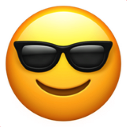 smiling face with sunglasses emoji u 1f60e