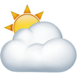 sun behind cloud emoji  u 26c5  u fe0f partly cloudy clipart black and white partly cloudy clipart png