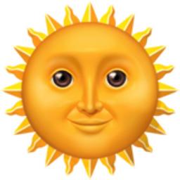 Sun with Face Emoji (U+1F31E) Symbols Copy And Paste Sun