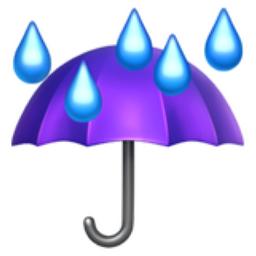 umbrella with rain drops emoji u2614 ufe0f
