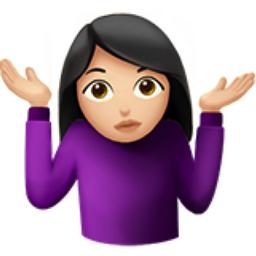 Image result for female hands up confused emoji