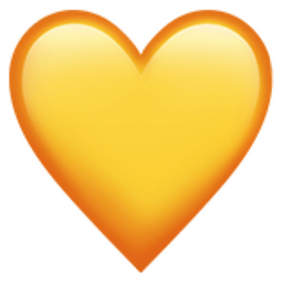 Yellow heart emoticon meaning