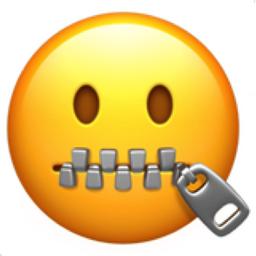Zipper-Mouth Face Emoji (U+1F910)