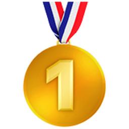 1st Place Medal Emoji (U+1F947)
